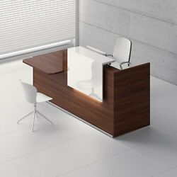Tera 89 Reception Desk With Lighting Panel And Counter Top