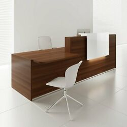 Tera 121 Reception Desk With Lighting Panel And Counter Top