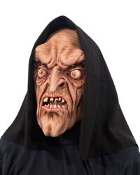 The Warlock Full Mask Witch Character Halloween Costume Hooded Monster Latex