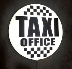 Taxi Office Led Illuminated Wall Mounted Light Sign Car London Cab Private Hire