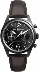 Brand New Bell And Ross Vintage Original Menand039s Watch Br-126-original-carbon