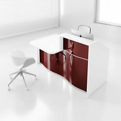 Wave 79 Reception Desk With Counter Top