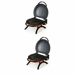 Napoleon Travelq 2225 Rust Resistant Portable Compact Propane Gas Grill 2 Pack