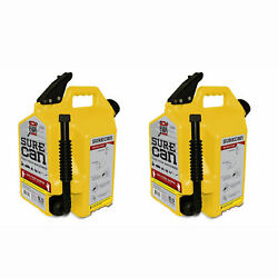 Surecan 5 Gallon Self Venting Diesel Fuel Can W/ Rotating Spout, Yellow 2 Pack