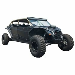 Custom Made Radius Roll Cage W/ Aluminum Roof And Whip Tab For Can-am X3 4 Seat