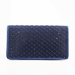 Adrianna Papell Sigrid Small Clutch Navy Msrp:$92 $35.50