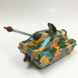 Army Tank Vintage M-61 Tin Toy Mystery Action 1960s