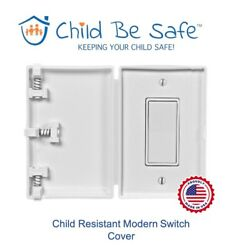 Child Be Safe 1-pack Child And Pet Proof White Rocker Switch Or Outlet Cover