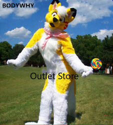 Handmade High Quilty Long Fur Mascot Costume Cosplay Outfits Promotion Fursuit