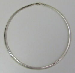 Beautiful Vintage Sterling Silver 925 Italy Serpentine Choker Necklace 16