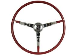 1966 Ford Mustang Steering Wheel Kit W/horn Ring And Spring - Red