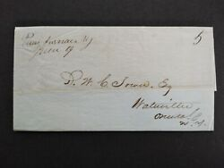 New York Paris Furnace 1848 Stampless Cover, Ms, Interesting Letter, Dpo Oneida