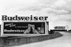 Classic Budweiser Billboard Vintage Advertisement Large Canvas Picture Wall Art