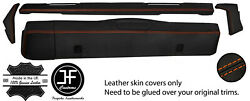 Orange Stitch Dashboard 5 Piece Leather Covers Kit For Land Rover Series 2 2a 3