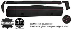 Pink Stitch Dashboard 5 Piece Leather Covers Kit For Land Rover Series 2 2a 3