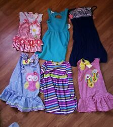 Lot Of 6 Girls Dresses Mixed brand Size 5 cute nannette spring popular