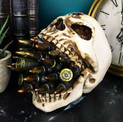 Hell War Ammo Bullet Shell Casings Protruding From Mouth Of Skull Statue 6.25and039l