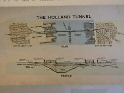 Inaugural First Nov 1927 Holland Tunnel Brochure New York City Nyc Jersey