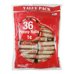 Bazic Penny Coin Wrappers 36/pack Pack Of - 50