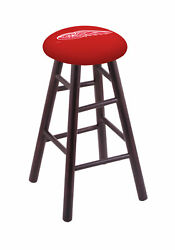 Holland Bar Stool Co. Maple Vanity Stool In Dark Cherry Finish With Detroit R...