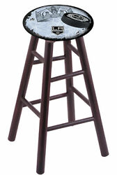 Holland Bar Stool Co. Maple Counter Stool In Dark Cherry Finish With Los Ange...