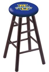 Holland Bar Stool Co. Maple Counter Stool In Dark Cherry Finish With Marquett...