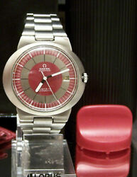 60's Vintage Omega Dynamic Automatic Cal 562 Mov't Serviced Red Dial + Boxes