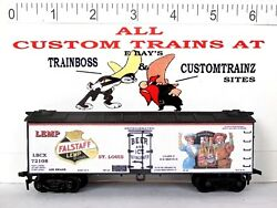 Ho Custom Lettered Early Fallstaff/ Lemp Beer Boxcar Collectible Reefer.lot F