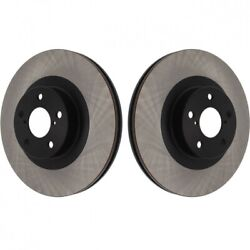 Centric Premium Front Brake Rotors Blank, Pair For 09-14 Wrx And 13+ Brz