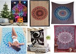 Wholesale lot 5 pcs Indian Mandala Tapestry WallHanging Tapestry Bedspread Twin