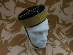 Repro British Army Victorian 17th Lancer Officer Pillbox Cap Extra Large 60cm