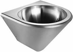 Noah's Collection Brushed Stainless Steel Commercial Single Bowl Wall Mount W...