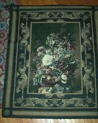 Masterpiece Floral Grand Bouquet Large Tapestry Wall Hanging Made In USA
