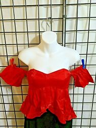 Luxmi Strapless Off The Shoulder Red Size Small NEW Junior Top $14.25