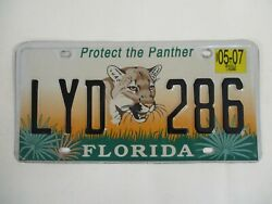 2003 Florida NEW PANTHER License Plate Tag SPECIALTY