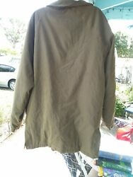 100% Burberry Large Jacket moss green $89.00
