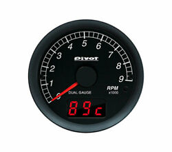 Pivot Dual Gauge 60mm Tacho White For Toyota Isis Zgm10 15g 2zr-fae Dxt