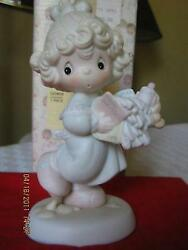 Enesco Precious Moments 1989 521450 Lord, Help Me Stick To My Job Bow And Arrow