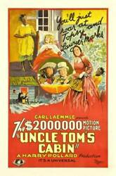 Old Movie Photo Uncle Toms Cabin Poster Reclining Girl Virginia Grey