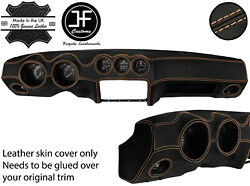 Beige Stitch Dash Dashboard Real Leather Cover Fits Datsun 260z 2+2 Jf2