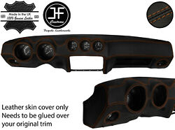 Brown Stitch Dash Dashboard Real Leather Cover Fits Datsun 260z 2+2 Jf2
