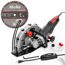 14 Inch Concrete Electric Cut-off Power Cutter Saw Wet/dry With Blade Saw Kit