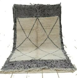 New Beni Ourain Authentic 9.and03984 Andtimes6.and0396 100 Wool Moroccan Berber Rug Azilal Rug