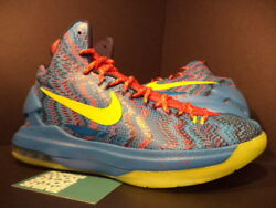 Nike Zoom Kevin Durant Kd V 5 Christmas Blue Atomic Green Red 554988-401 Ds 9.5
