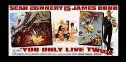#1 RAREST SEAN CONNERY BOND! ☆ YOU ONLY LIVE TWICE ☆ 1967 24-Sheet MOVIE POSTER!