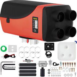 12v 8kw 4 Holes Air Diesel Heater + Silencer Rotary Switch 8000w For Car Truck