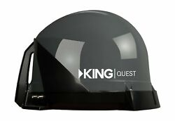 King Vq4100 Quest Portable Roof Mountable Satellite Tv Antenna Coaxial Outputs