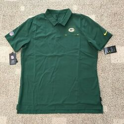 Nike Dry Mens Short Sleeve Polo Shirt Green Size Xl Nfl Green Bay Packers