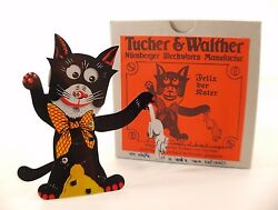 Tucher And Walther Felix Der Miss Cat With Rat Sheet Metal 4 5/16in New In Box