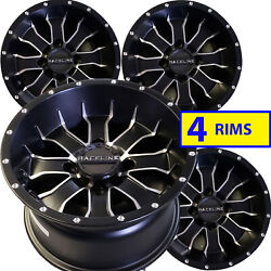 Bombardier Can-am Quest Solid Rear Axle Atv Rims Wheels 12x7 4/110 Set Of Four